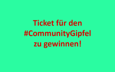 Ticket für den CommunityGipfel 2020 gewinnen