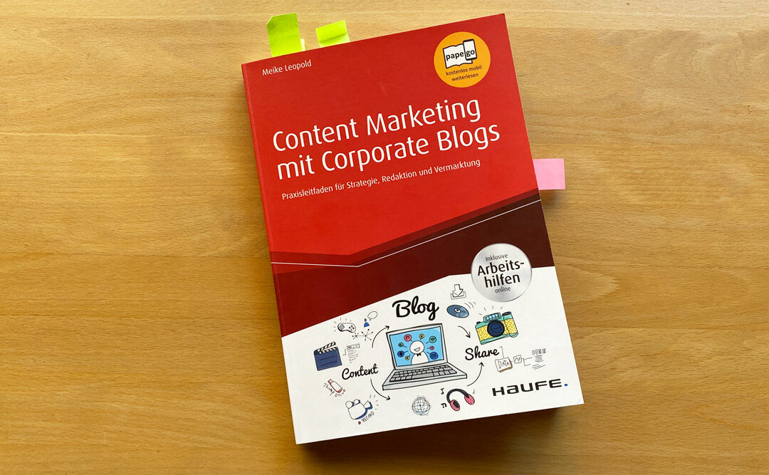 Buch Content-Marketing mit Corporate Blogs